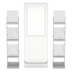 LCD display stand and magazine rack.