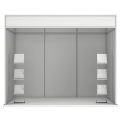 Trade Show Booth White and Blank