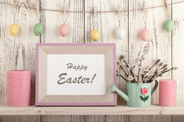 Easter decoration with holiday greeting