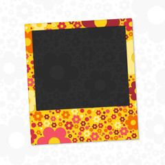 Flowers photo frame.