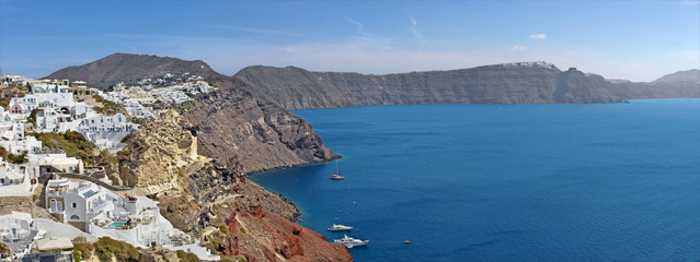 Santorini - The look from Oia to east.
