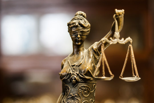 Statue of justice (focus on face)