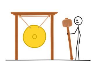 sm gong stehen mit schlaegel II
