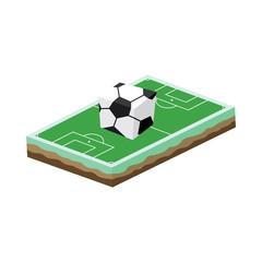 cartoon soccer field