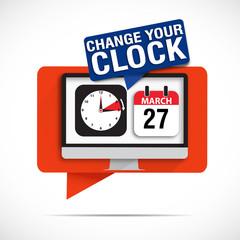bulles écran : change your clock