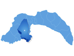 Map of Antalya - Kumluca is pulled out