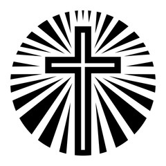 Christian Cross Crucifix vector icon