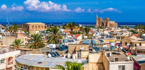 Photo sur Plexiglas Chypre Old town of Famagusta (Gazimagusa), panoramic view. Cyprus