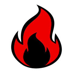 Flame Fire Vector Icon