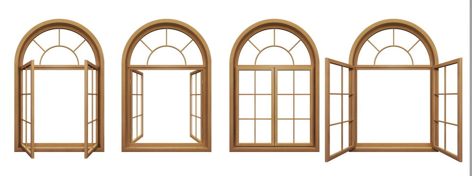Arched Wooden Window Frame Images