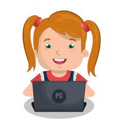 Children using computer design
