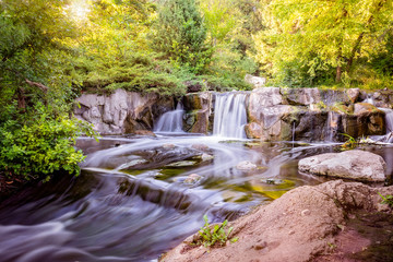 Printed roller blinds Waterfalls Waterfall in pond