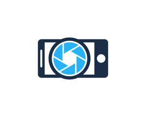 Mobile Camera Logo Design Template