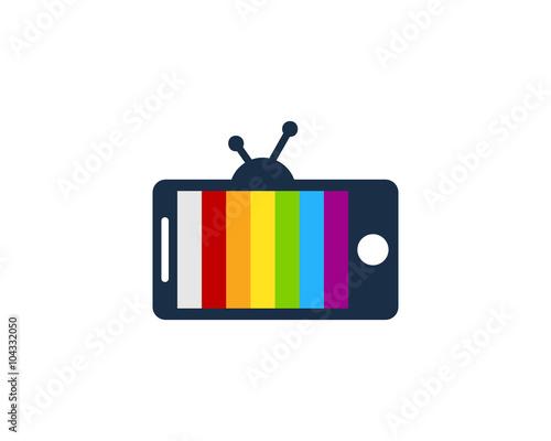 Mobile TV Logo Design Template\