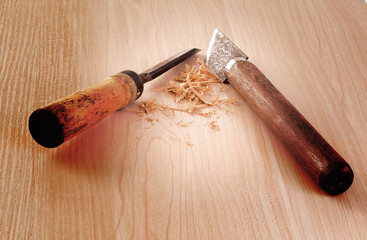carpenter tools in the work