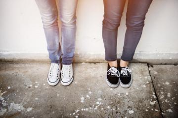 Women Friends Lifestyle Fasion Street Concept