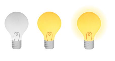 電球イラスト セット素材 消灯・点灯