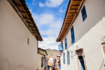 Perspective of houses in Cusco Peru