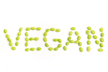 vegan with soybeans