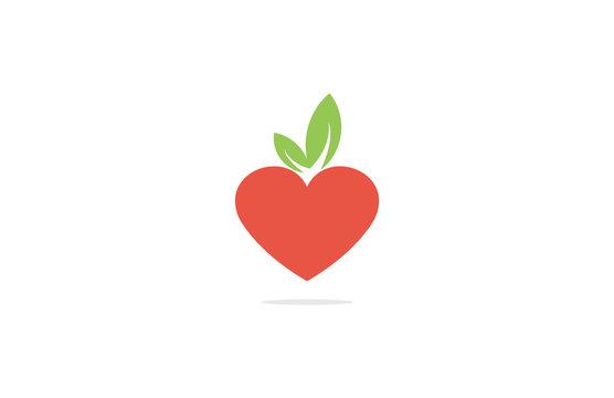 heart fruits strawberry