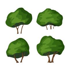 Park bush vector