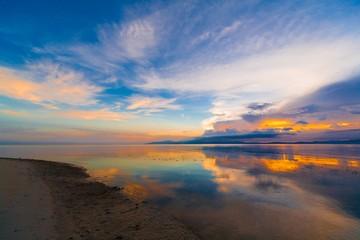sunset  tropical sea