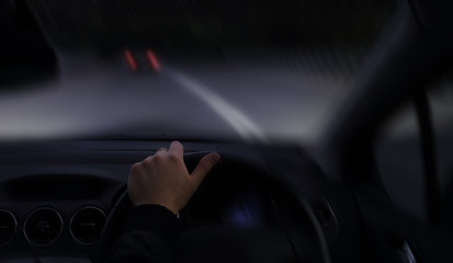 Fototapete - Drunk driver