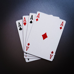 poker cards aces