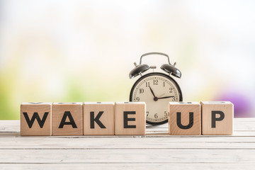 Wake up message with a classic alarm clock