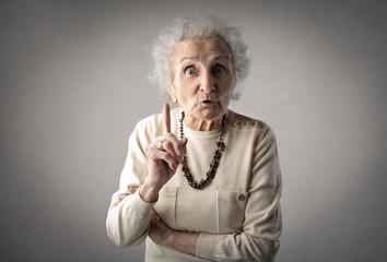 Warning grandmother