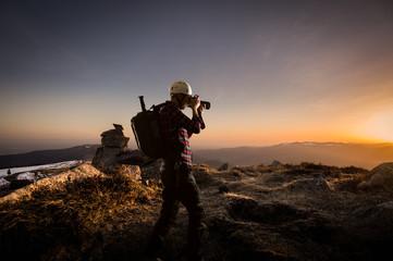 Photographe et montagne