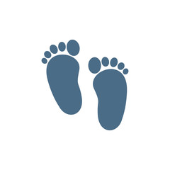 Baby footprints icon