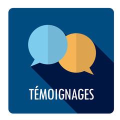 Bouton web vecteur TEMOIGNAGES