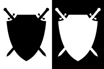 Sword and shield. icon.