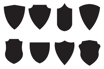 Medieval shield. Set icon.