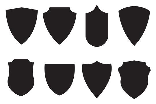 Medieval shield. Set icon.
