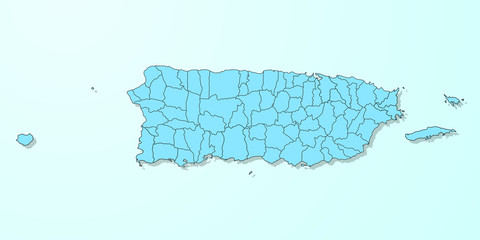 Puerto Rico blue map on degraded background vector
