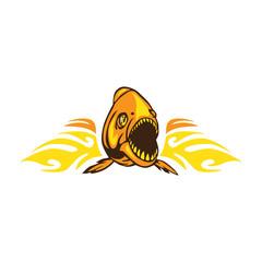 Angry Fish Flame
