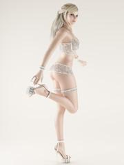 Wear lace underwear girl