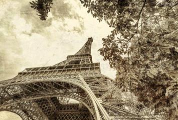 Vintage photo of Paris