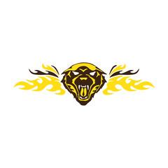 Tiger Roaring Flame