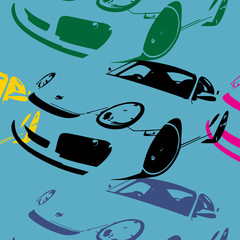 Pop art, voiture de sport