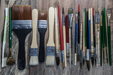 Equipment for painting and airbrush equipment - stock image