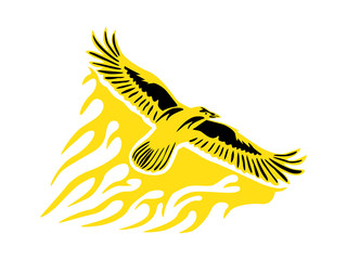 King Eagle Flame Illustration