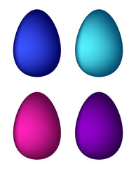 Easter egg set vector symbol , icon  design. Spring illustration isolated on white background.