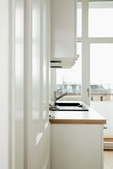 Kitchen, open door