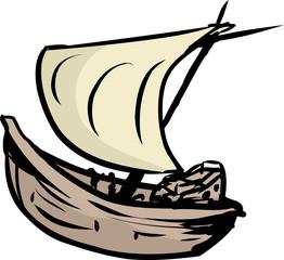 Simple Clipper Ship Doodle
