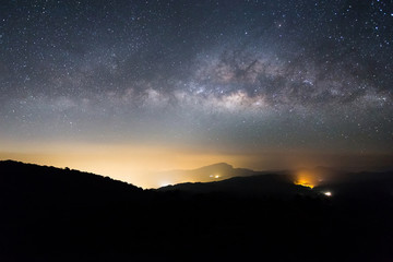 Milkyway on a night sky