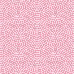 桜 鮫小紋 日本の伝統文様