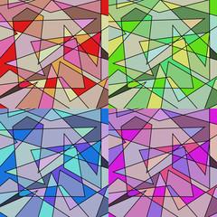 Set di forme astratte colorate